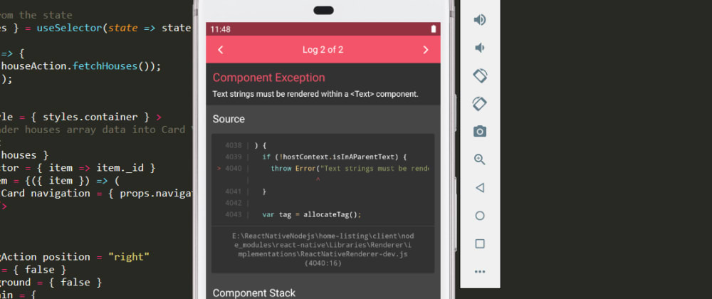 Cover image for Text strings must be rendered within a  component (Solution) React Native error