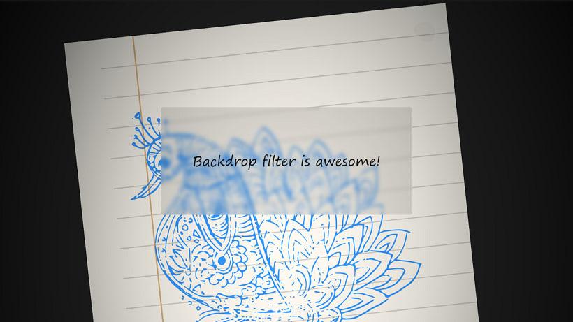 Backdrop filter in Chrome