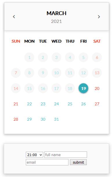 scheduling widget