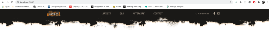 Website Header Preview - desktop