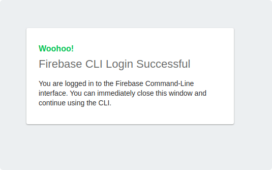 Firebase Authentication Successful