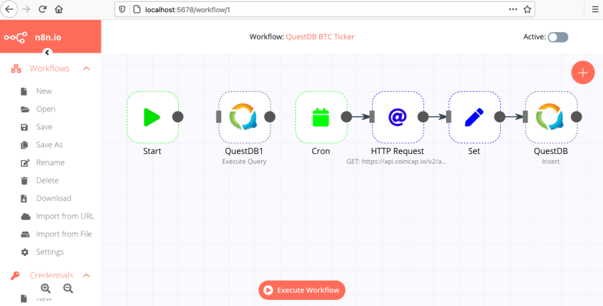 Submission form to import an n8n.io workflow from URL