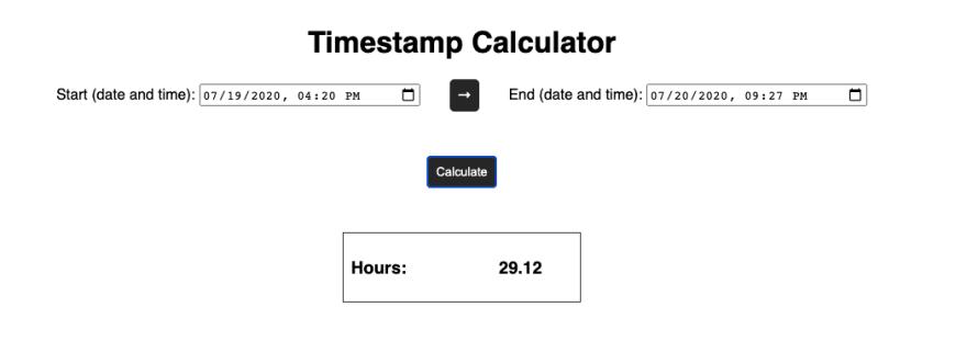 Finished timestamp calculator