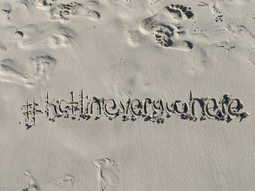 #kotlineverywhere on the beach