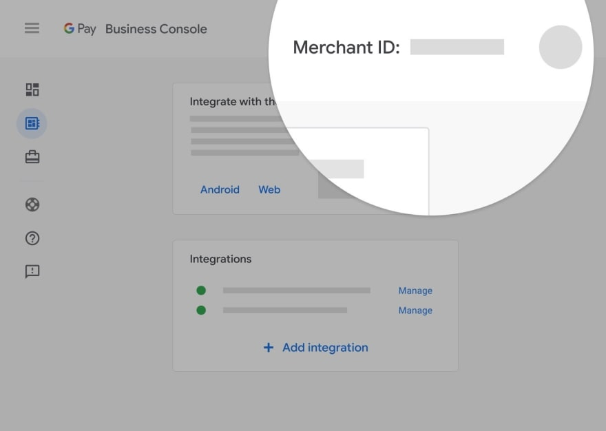 Google Pay Business Console