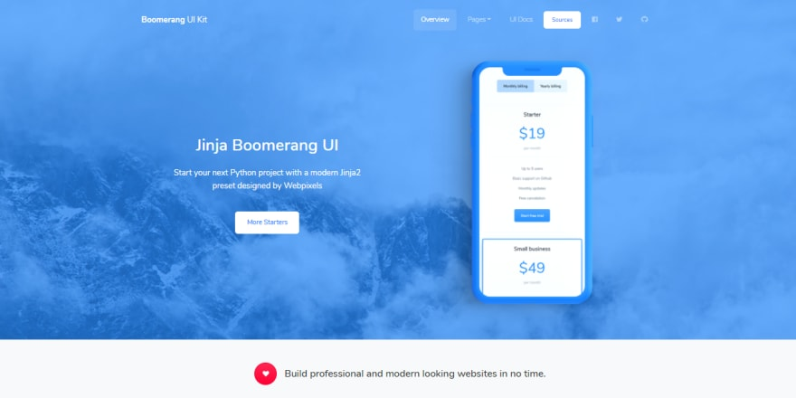 Jinja Template - Boomerang UI Kit by