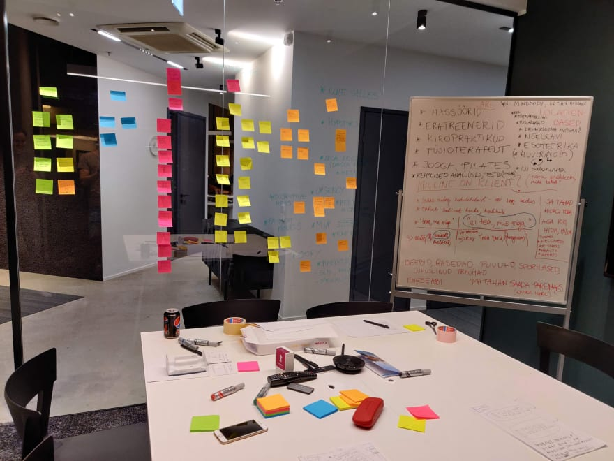 Our hub in a meeting room with ideas
