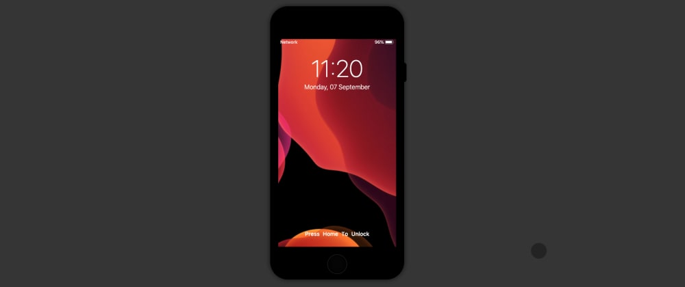 Cover image for iPhone 7 animated replica using HTML, CSS and Javascript