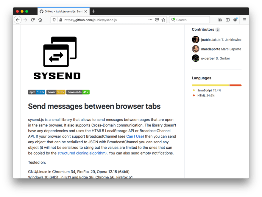 sysend.js