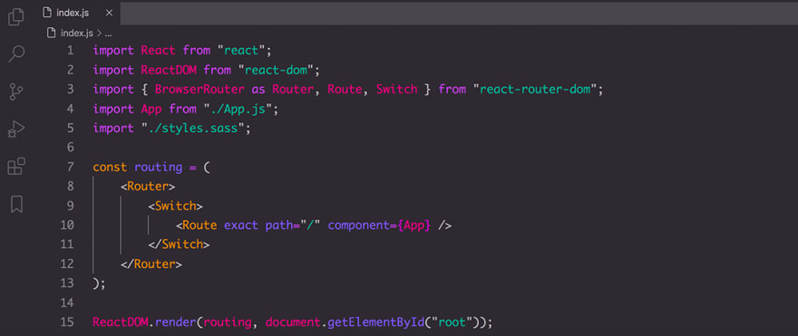 React code snippet with the Base16 - Unikitty theme