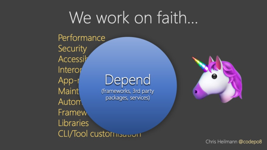 we work on faith - we trust abstractions to do all the right things for us