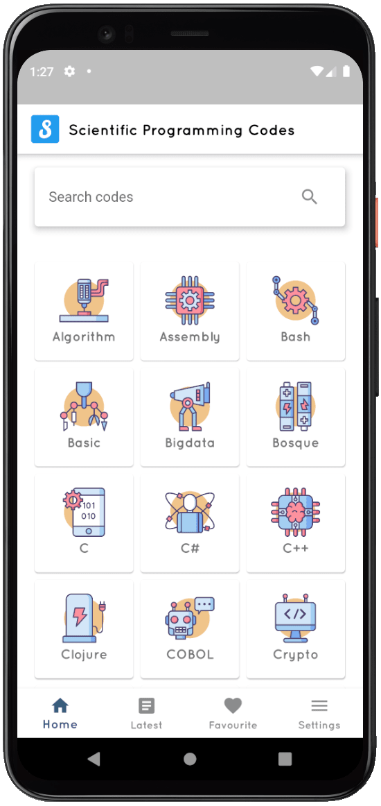 Scientific programming codes -App