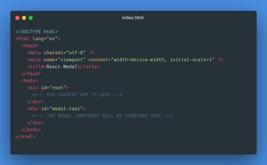 React Modal HTML