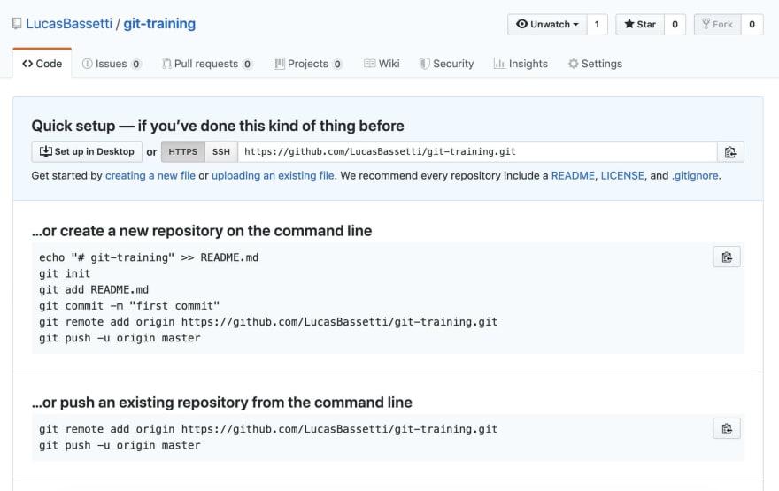 Github new repository