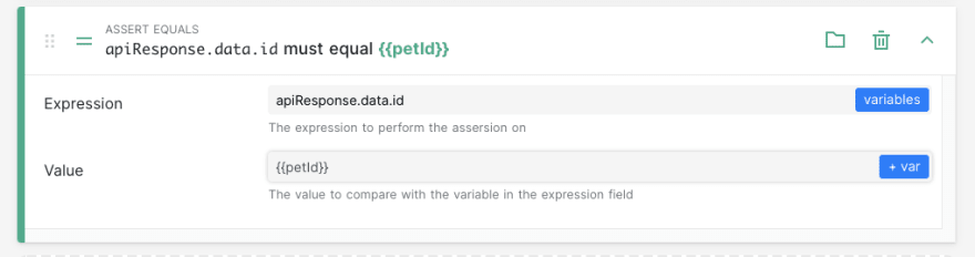 set assertion for pet id at the end of the steps