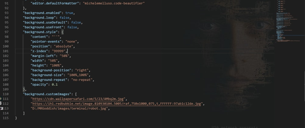 Cover image for Background image for vs code