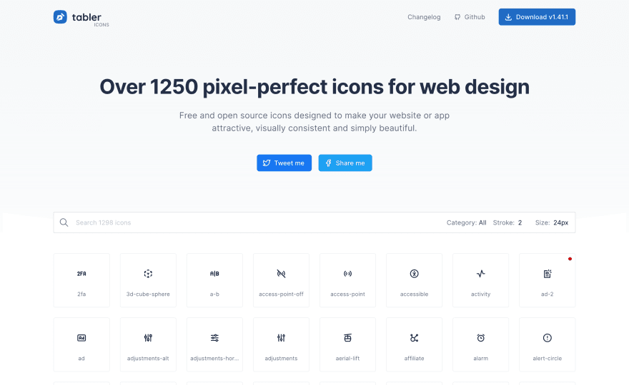 tabler icons website