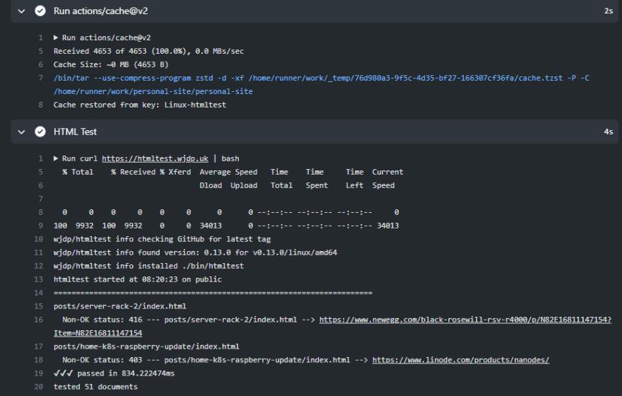GitHub actions run
