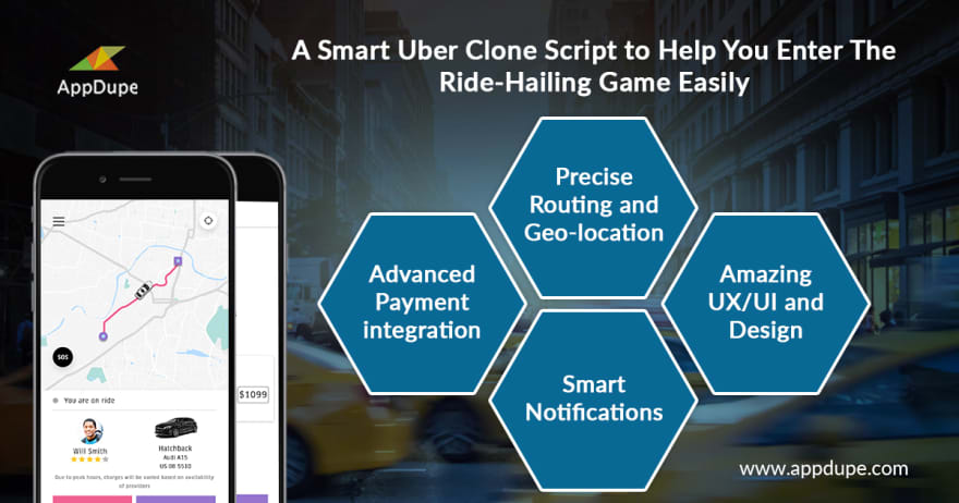 Appdupe Uber clone