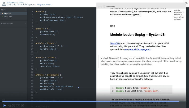 Magnus will take you through building an article layout using CSSGrid.