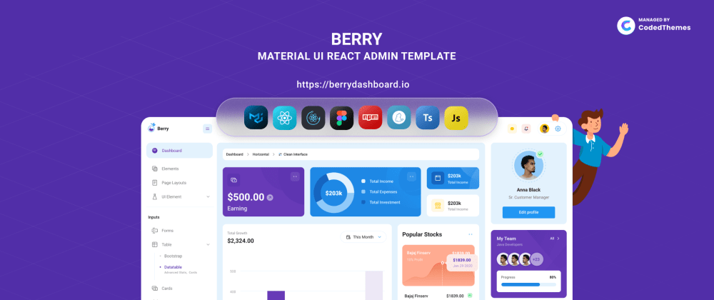 Cover image for Introducing Berry React - Material Design Admin Template