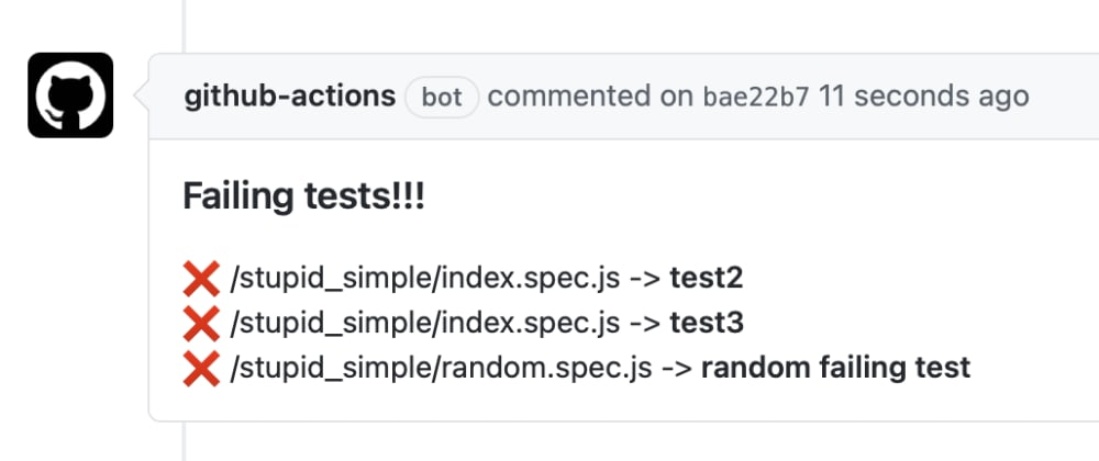 Cover image for Post Jest test results into github PRs via actions