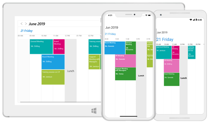Timeline View in Xamarin Forms Scheduler