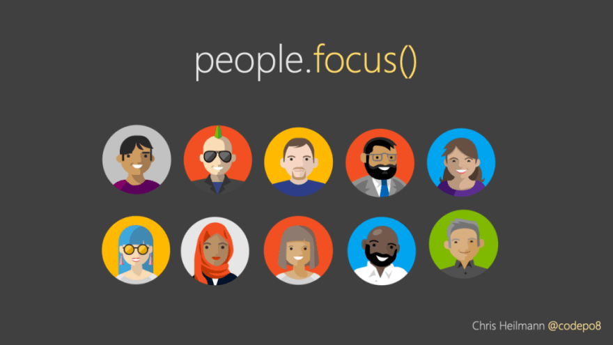 let's focus on people