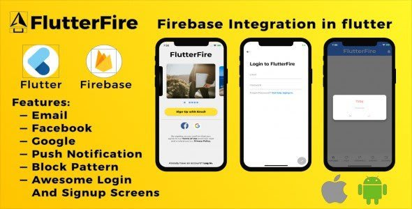 FlutterFire – Firebase authentication in Flutter Web, Android and<br> iOS.