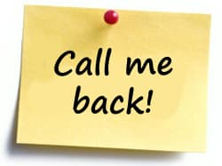 Call me back post-it note