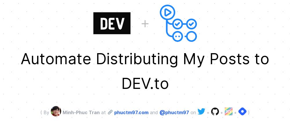 Cover image for Automate Distributing My Posts to DEV.to