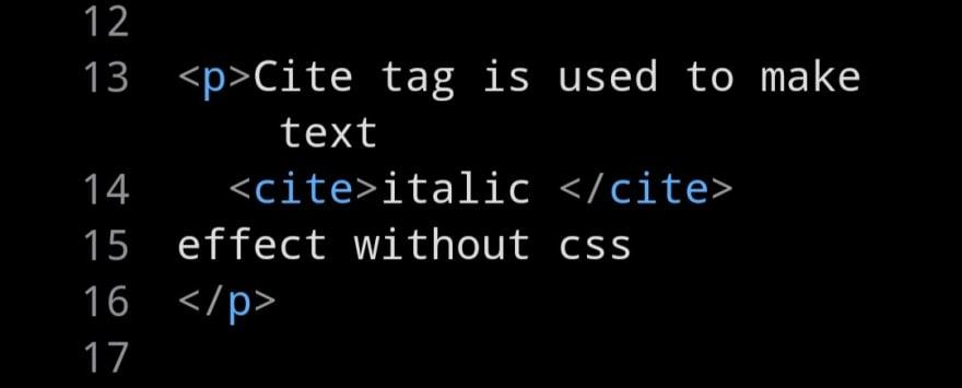 cite tag