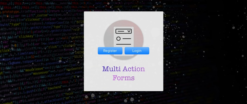 Cover image for 🚦 Submitting a Form to different Actions in HTML5
