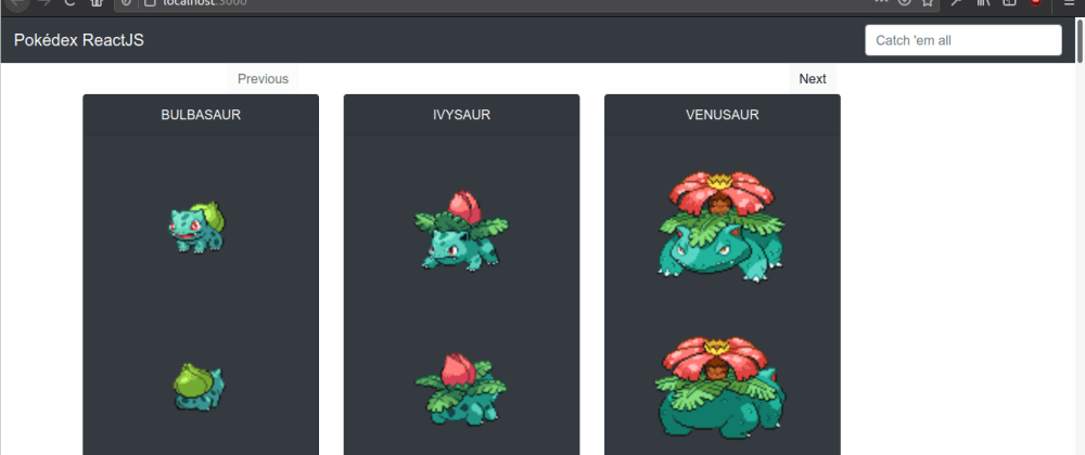 Cover image for Pokédex with React