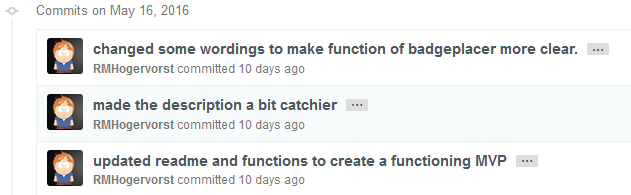 somewhat better commit messages