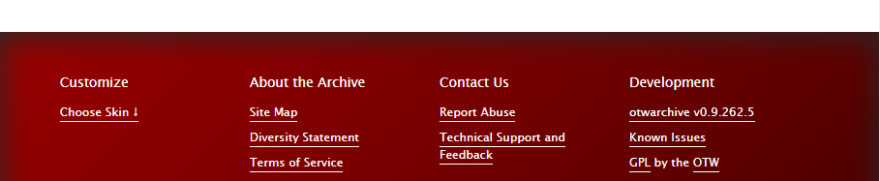 The skinned footer with an inset box shadow and a gradient red background