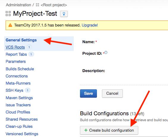 build configuration step 1