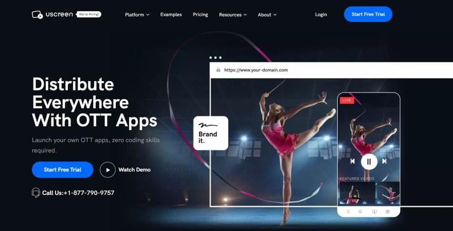 Uscreen OTT TV Platform