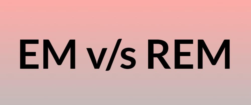 Cover image for Em v/s REM