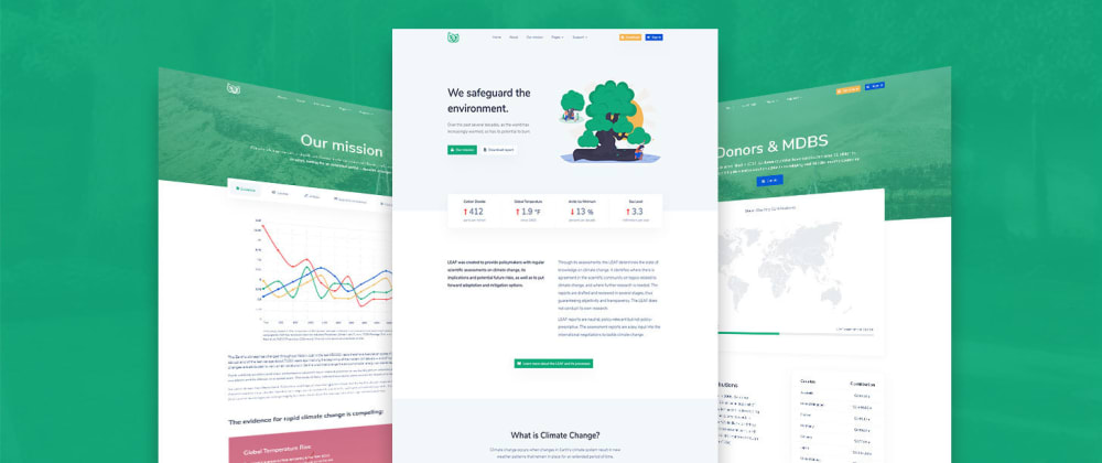 Cover image for Leaf - Climate Change Bootstrap 4 Theme