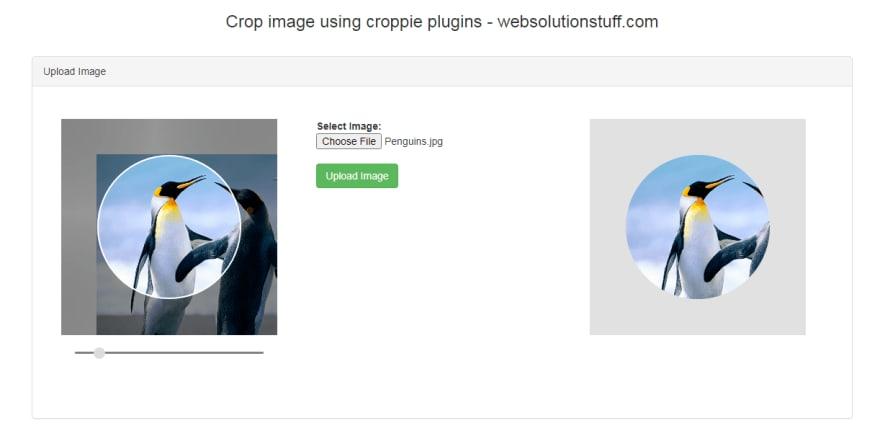 Crop Image Before Upload Using Croppie Plugin