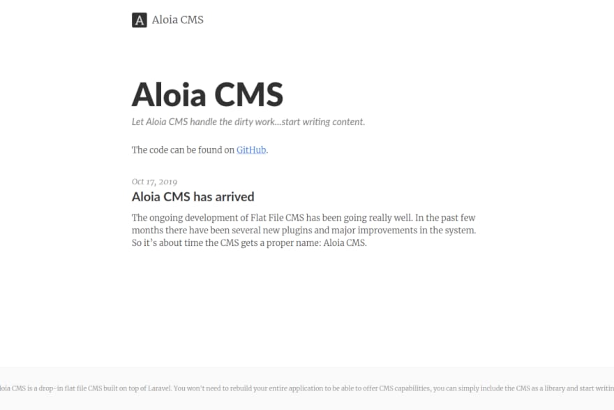 """""""First version of Aloia cms website"""""""