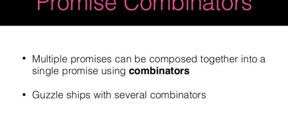 Cover image for Let's Talk Promise Combinators