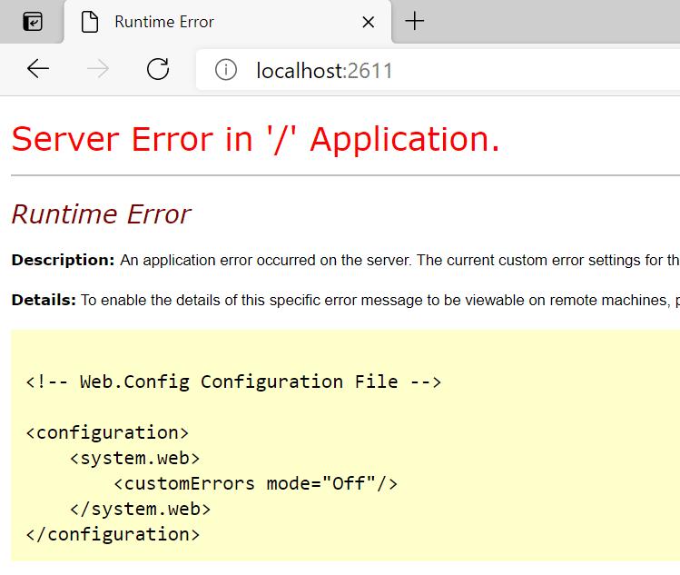 ASP.NET Application Error