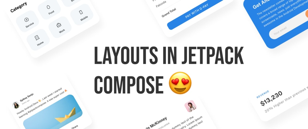 Cover image for 🚀 Jetpack Compose Layouts
