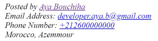 Aya Bouchiha html tags address