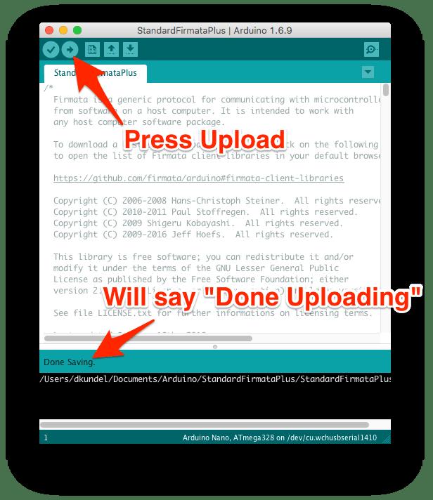 screenshot indicating a successful upload