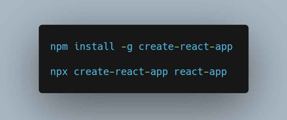 Cover image for Creating a new React-app with create-react-app