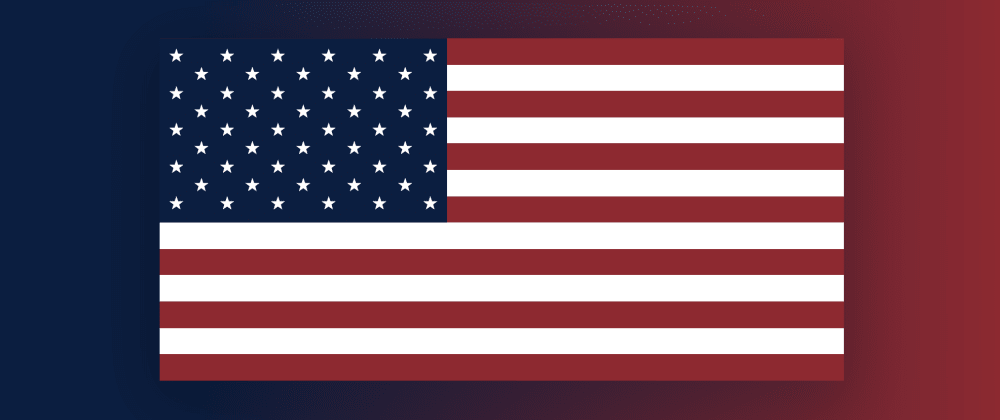 Cover image for USA Flag in CSS