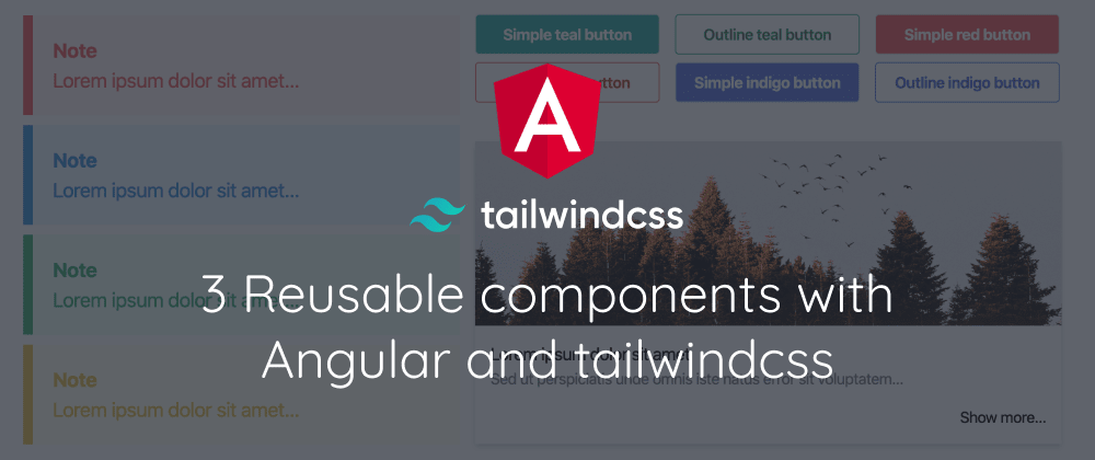 3 Reusable components with Angular and tailwindcss